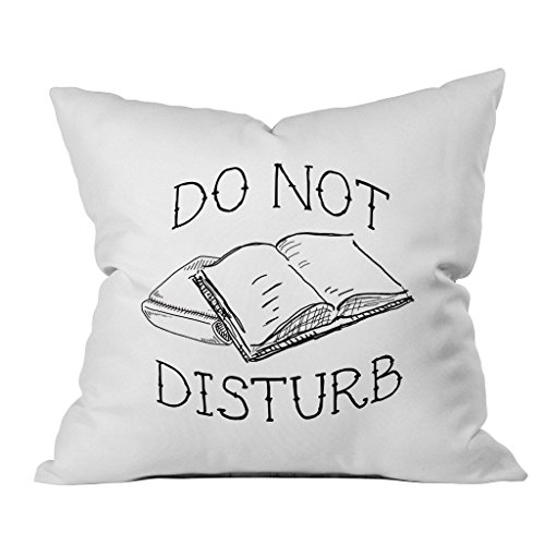- Oh, Susannah Do Not Disturb 18x18 Inch Throw Pillow Cover Gifts for Book Lovers