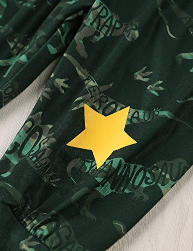 Xuefoo Set di Abbigliamento con Stampa di Testa di Cervo per Neonato Neonato Set di Abbigliamento con Cappuccio per… 6