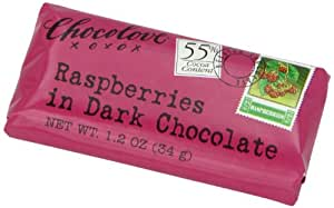 Chocolove Raspberry  Dark Chocolate, 1.2-Ounces (Pack of 12)