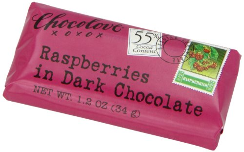 Chocolate Honey Raspberry - Chocolove Raspberry  Dark Chocolate, 1.2-Ounces (Pack of 12)