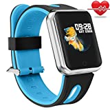 Fitness Tracker Kids,Miya Smart Watch Sleep Monitor Calorie Counter Pedometer Sport Waterproof Activity Tracker Heart Rate Monitor Color Screen Wristwatch Women/Men for iPhone Samsung Android - Blue