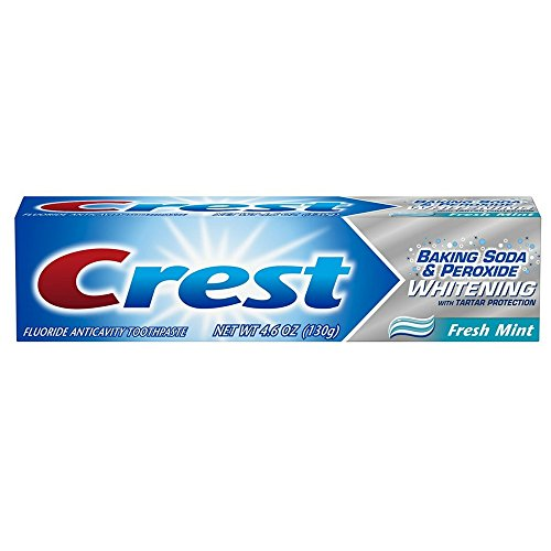 (Crest Baking Soda and Peroxide Whitening with Tartar Protection Fresh Mint Toothpaste, 4.6 Ounce)