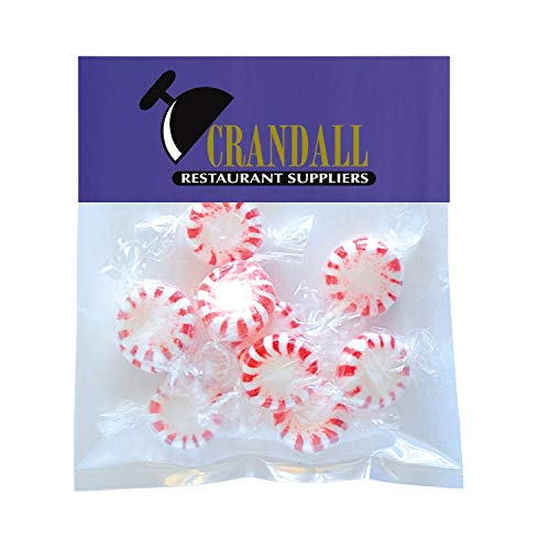 Candy Gift Pack-Striped Peppermints with CUSTOMIZED Business Card Magnet in Small Header Pack- BULK Quantities-100, 250…