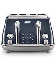 De'Longhi Icona Capitals 4 Slice Toaster, Blue, CTOC4003BL