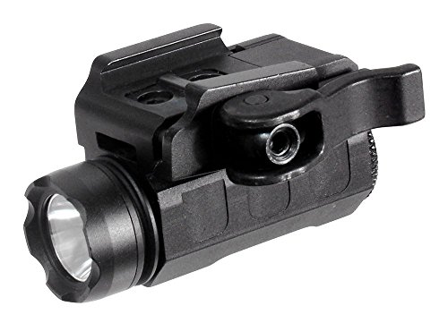 (UTG 120lumen Sub-compact LED Pistol Light,16mm Head,QD Mount)