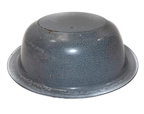 Antique Gray Splatter Porcelain Enamel Graniteware Bowl Basin - 12 1/2
