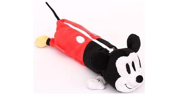 Estuche lápices peluche felpa Disney ratón Mickey Mouse: Amazon.es: Juguetes y juegos