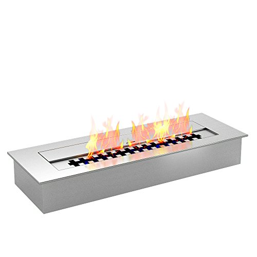 Regal Flame 2.6 Liter PRO 18 Inch Bio Ethanol Fireplace Burner Insert. All Types of Indoor, Gas Inserts, Ventless & Vent Free, Electric, or Outdoor Fireplaces & Fire Pits.