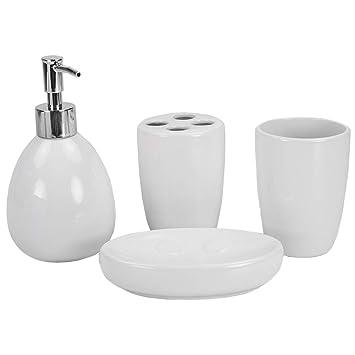 Amazon.com: Home Basics - Juego de accesorios para baño (4 ...