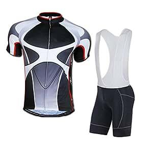 Padded Bib Bike Shorts Men Shorts Cycling Shirt Jerseys Bibs Pants Asia M/US S Gray