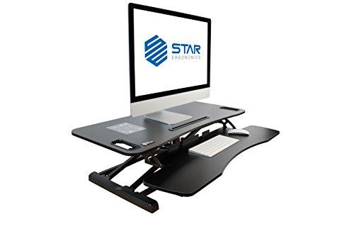 Star Ergonomics Sit-Stand Desktop Workstation – The Ultimate Workstation of Vertical Height Adjustment SE01M1WB