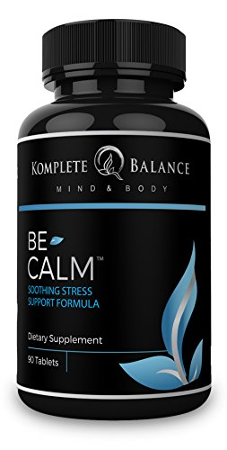 BeCalm | Premium Stress & Anxiety Relief Supplement, Natural Sleep Aid, Adrenal Support, Cortisol Manager, Mood Booster - Vitamin B Complex, Valerian Root & Chamomile To Calm, Soothe & Relax- 90 Count
