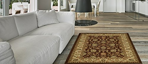 Decorative Double Mats (Maxy Home Hamam Traditional Multicolor 1 ft. 6 in. x 2 ft. 7 in. Rubber Backed Door Mat)