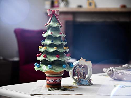 Gran árbol de cerámica hecho y decorado a mano con tronco ...
