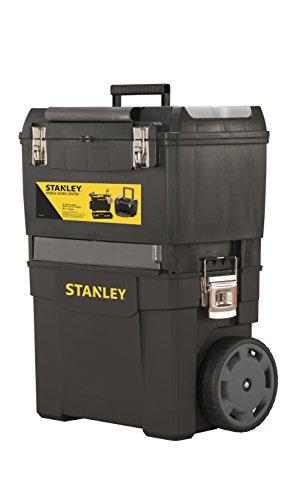 Stanley Rollende Werkstatt, Werkzeugbox, Kunststoff, zwei Einheiten, Metallschließen, Organizer, verschließbar, 1-93-968