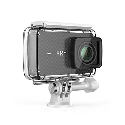 YI 4K+/60fps Action Camera with Waterproof Case, Plus Voice Control, Live Streaming, and 12MP RAW image (Black) by YI