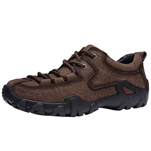 Orfilaly Men Climbing Trekking Hiking Footwear Casual Breathable Non-Slip Wear Sports Running Sneakers Tennis Nursing Shoes Brown