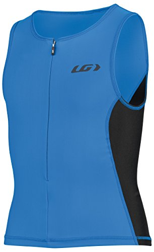 Louis Garneau Junior Comp 2 Sleeveless Triathlon Top, Curacao Blue, Junior Large