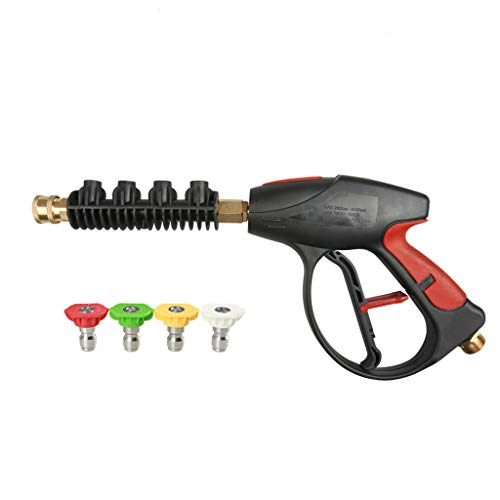 Ship from USA, Pressure Washer Gun, 4000 PSI with 4-Color Pressure Water Washer Nozzles for Car High Pressure Power Washer,Honda, Generac, Ryobi, Briggs Stratton Pressure Washers (A)