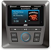 MTX AWMC3 + SXV All-Weather Head Unit for UTV and Marine: Bluetooth, AM/FM/WB. SiriusXM Satellite Tuner INCLUDED