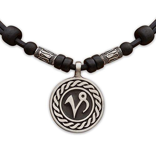 HANA LIMA 1 von 12 Sternzeichen Tierkreiszeichen an Verstellbarer Lederkette mit Edelstahlperlen Horoskop Horoscope Halskette Surferkette