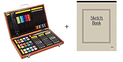 The Artist Selection Art Supplies Set in Wooden Box with Sketch Paper (82-Pieces)