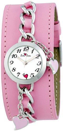Zou Zou ZRT6012 24.5 Brass Case Pink Leather mineral Women's Watch