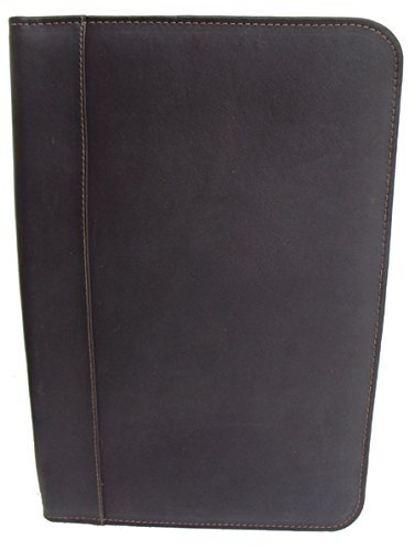 Piel Leather Legal Size Open Notepad in Chocolate by Piel Leather