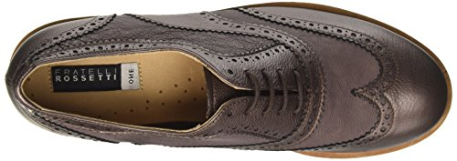 Fratelli Rossetti 75240, Zapatos de Cordones Brogue para Mujer Marrone (Marrone Metallico)
