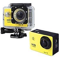 Boyiya Mini 1080P Full HD DV Sports Recorder Car Waterproof 170°Wide Angle Action Camera Camcorder (Yellow)