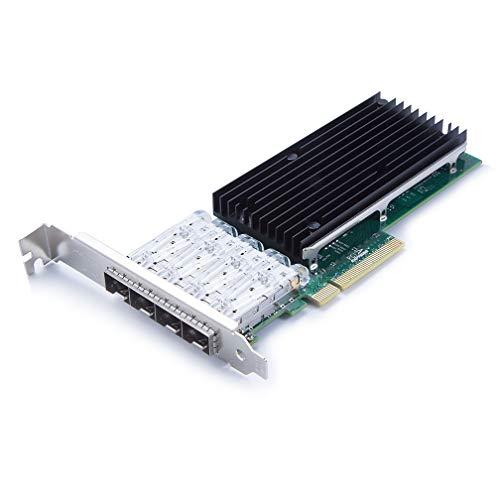 10Gtek for X710-DA4, 10GbE Converged Network Adapter (NIC), 4X SFP+ Port