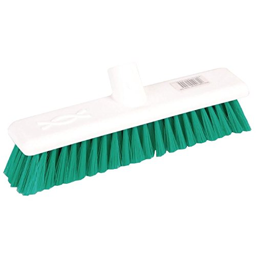 Jantex Soft Hygiene Broom Green 12in Cleaning Equipment Supplies Nisbets 19272