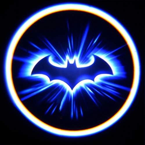 HERCHR Car Door Welcome Light, Mini 3D LEDLaser Projector Logo Batman Shadow Light Car-Styling Car Interior Decoration Light for Most Cars Welcome Lamp Car Logo