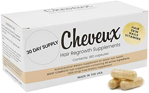 Hair Vitamins for Faster Hair Growth. Stop Hair Loss with All Natural Hair Skin and Nails Vitamins. Collagen, Saw Palmetto, Keratin, and DHT Blocker to Prevent Hair Loss and Thinning.