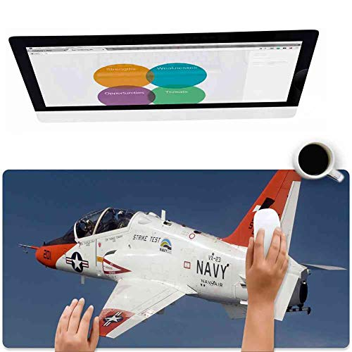 Mouse Pad Rectangle Mouse Pad Aircraft Jet Navy Military T-45c Goshawk Trainer #804079 Defender 260mm210mm3mm