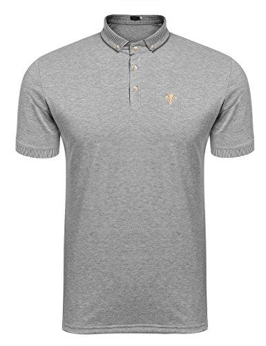 排泄する残基開発する(クーファンディ) Coofandy メンズ ポロシャツ ゴルフ オリジナル ポロシャツ 長袖 半袖 ビジネス おしゃれ 仕事 通勤 無地 薄手 普段着 重ね着 カジュアル ボタンダウン ストライプ襟