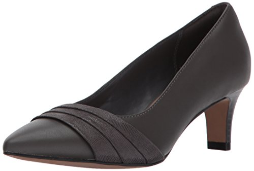 CLARKS Womens Crewso Madie Dress Pump, Grey, 7 W US