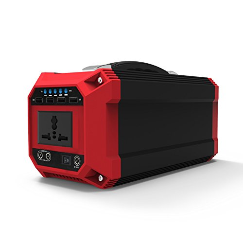 Portable Generator, 300Watts 76,000mAh Pure SineWave Power Inverter, AC Power Bank, Mini Portable Charger, External Battery Packs with 110V AC Outlet 12V DC 5V USB for Home Camping, Emergency Backup