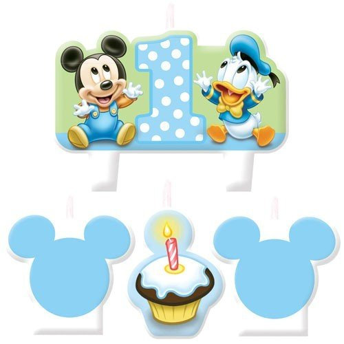 Baby Mickey Mouse 1st Birthday Mini Molded Candles Cake Disn