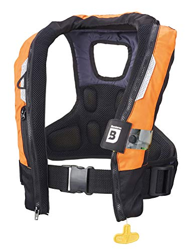 Bluestorm Gear Arcus 40 Automatic/Manual Inflatable PFD Life Jacket for Adults (HD Orange)