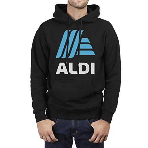 UONDLWHER Black Men's Long Sleeve Hooded Winter Sweatshirt Ultra Soft Plush Lining Pullover Outwear Hoodie