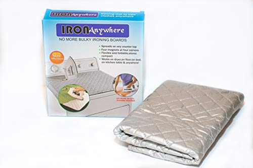 Iron Anywhere – Portable Mini Ironing Mat – Magnetic Corners – No More Bulky Ironing Boards – Heat Resistant Up to 500° – Easy Apartment Accessories – Fold Away for Later – Small Travel Size 60x55cm