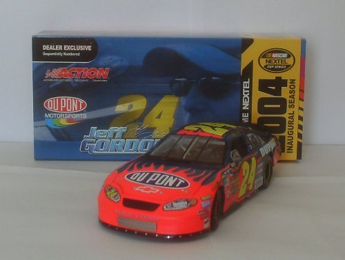 2004 Nascar Nextel Inaugural Dealer Exclusive Jeff Gordon #24 Flamed Dupont 1:24 scale Monte Carlo Limited Edition Sequentially Numbered - Sequentially Numbered Limited Edition