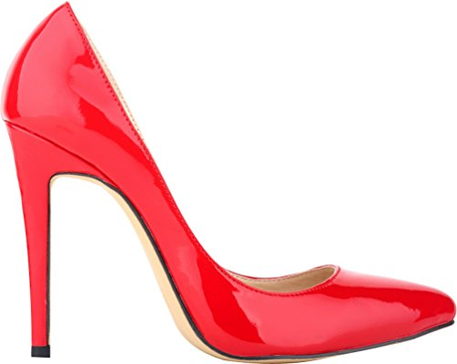 Toe Lightweight Shallow 302 Various Stiletto Heel CFP YSE 1QP Pointed Charm Formal Business Womens Sweet Mouth Fair Occasions Pump Slim Red Wedding Classic High Ladies Office Colors 5RSqHwXS