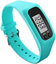 Pedometer Watch with LCD Display Simple Operation Walking Fitness Tracker Wrist Band Digital Step Counter,Fitn