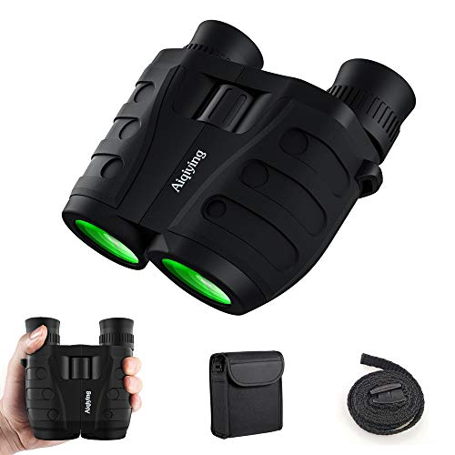 12x25 Compact Pocket Folding Binoculars for Adults Kids, Low Light Vision High Powered Lightweight Waterproof HD Professional Mini Binocular Telescope for Outdoor Hunting, Bird Watching, Hiking