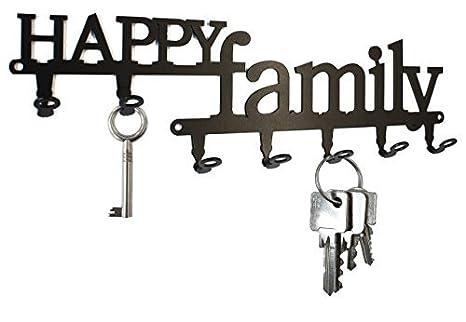 Amazon.com: Happy Family – Llavero de pared, ganchos ...