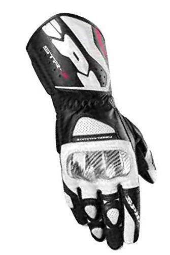 Spidi Sport S.R.L. STR-3 Gloves, Distinct Name: White/Black, Gender: Mens/Unisex, Size: 3XL, Apparel Material: Leather, Primary Color: Black A139-011-3X
