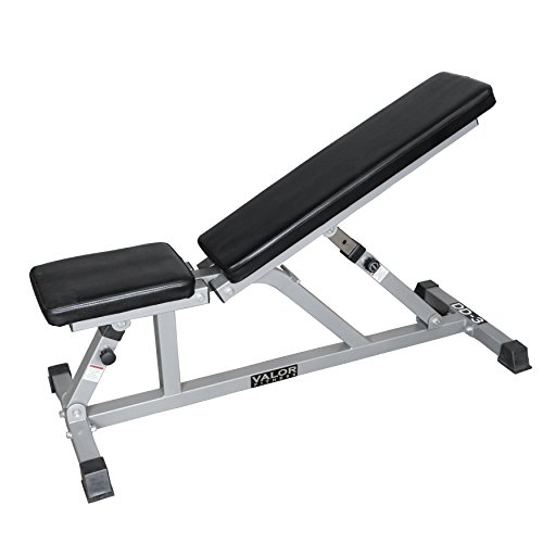Valor Fitness Adjustable Weight Bench for Flat or Incline Bench Press DD-3 – Workout Benches for Home