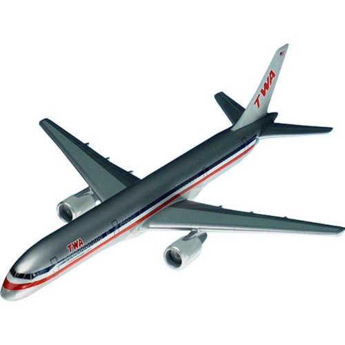 (Boeing B757-200 TWA Handcrafted Quality Desktop Airplane Model Display / Mid-size Narrow-body Jet Airliner / Unique and Perfect Collectible Gift Idea / Aviation Historical Replica Gift Toy )